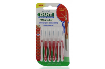 GUM Travler red 0,8mm-wire 6 á spjaldi