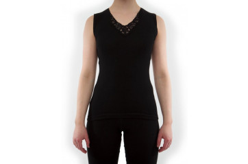 Women's sleeveless undershirt with lace