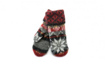 Wool mittens – brushed wool