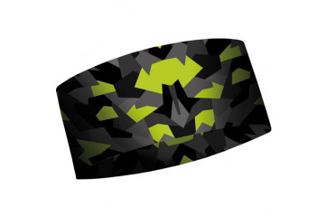 Matt Headband ThermoCool Geometric Camo Green