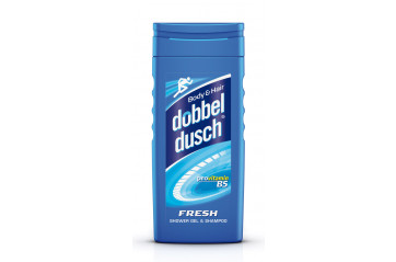 Dobbeldusch Fresh Blár 250ml.