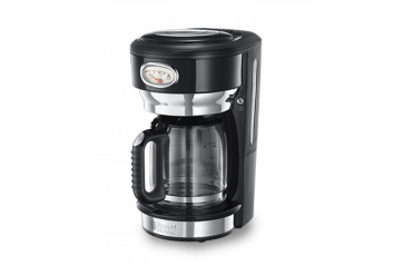RH Retro Black Glass Coffee