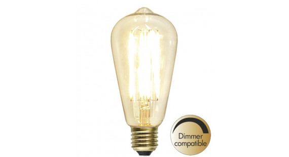 DecoDecoration LED Clear E27 2200K 320lm Dimmer comp.