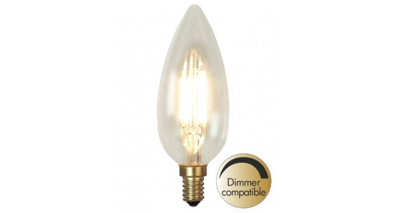 Decoration LED Clear filament bulb E14 2200K 270lm Dimmer comp.