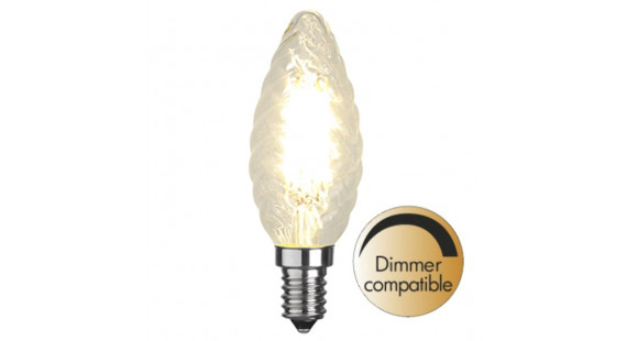Illumination LED Twisted filament bulb E14 2700K 420lm Dimmer comp.