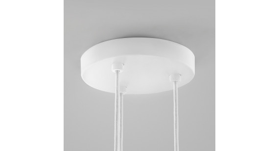 CEILING BASE Ø200/3 PENDANTS WHITE