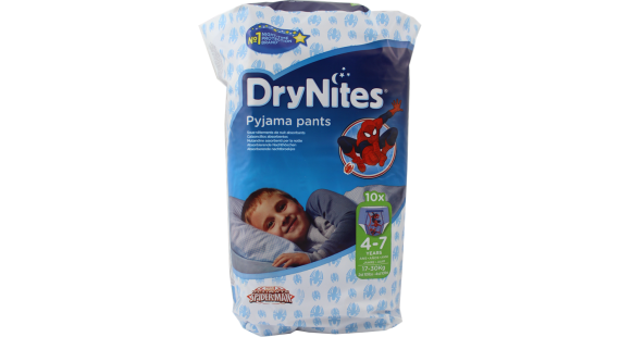 Huggies Drynites 4-7 Boy/10