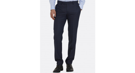 Suit Trouser Easy Care Blue Check