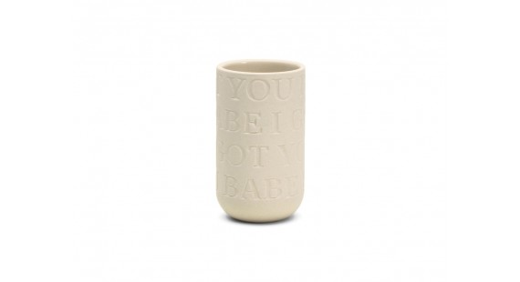 Kähler - Love Song Vasi 12,5cm Limestone White