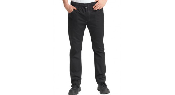 Kokkabuxur slim fit svartar XL