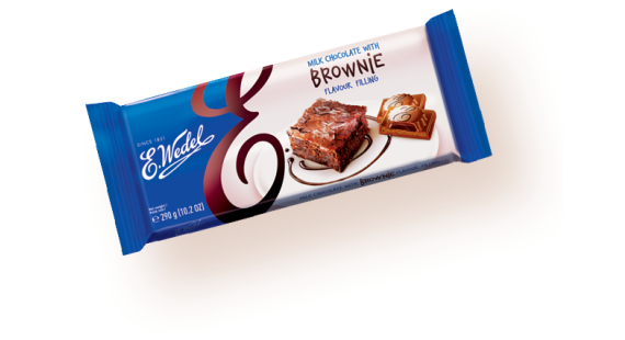 Milk chocolate with brownie filling 290g