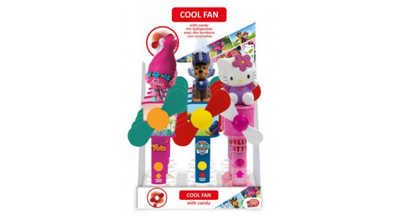 Coolfan with candy