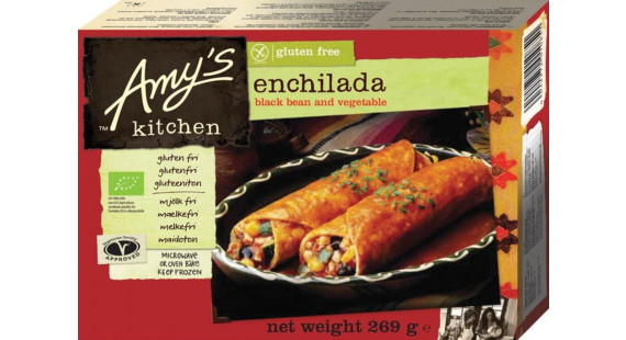 Amy's Black Bean Enchilada GF DF Vegan 2stk 269g
