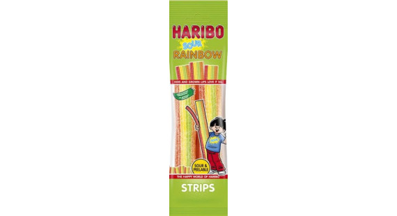 Haribo Rainbow Sour Strips 114g