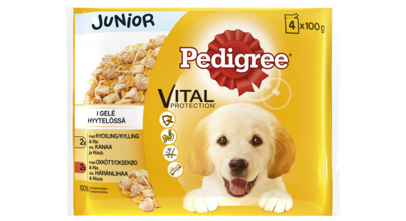 Pedigree Pouch Junior 4x 100g