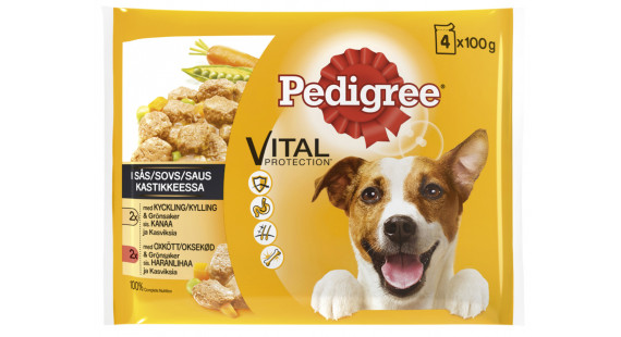 Pedigree Pouch Adult 4x 100g