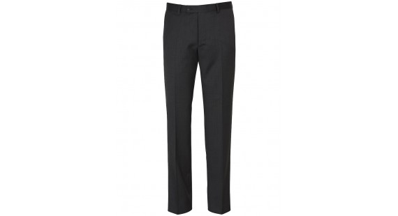 Wool Stretch Suit Trouser - Charcoal