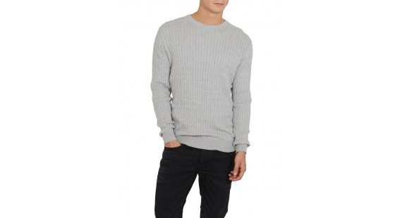 Sweater Cotton Cable Grey