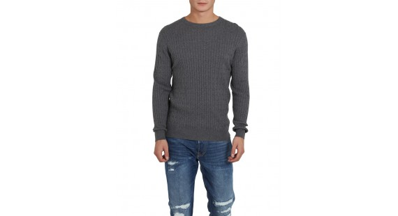Sweater Cotton Cable D.Grey