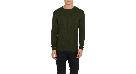 Sweater Cotton Cable Green