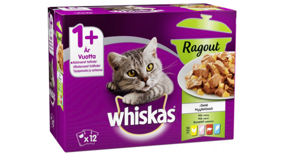 Whiskas 1+ Ragout Mixed 12x85g